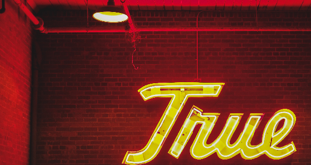 True Neon Sign with Brick Wall